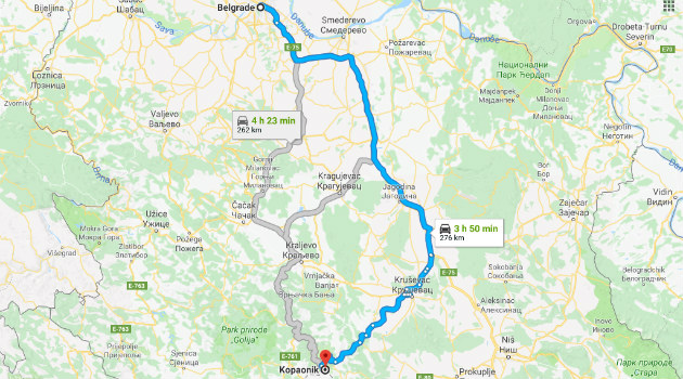 Put Beograd - Kopaonik
